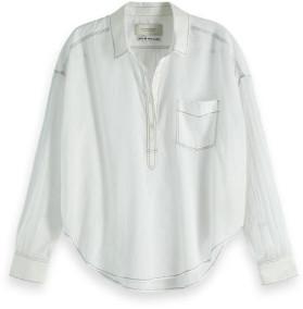 Scotch & Soda White Lightweight Cotton Shirt - xsmall - White