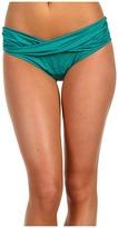 Badgley Mischka Portofino Beaded Bikini Bottom (Emerald) - Apparel