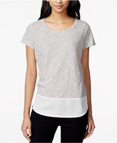 Maison Jules Striped Contrast T-Shirt, Only at Macy's