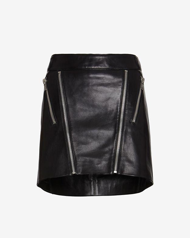 Mason by Michelle Mason Zippered Mini Skirt