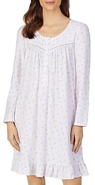 Eileen West Printed Long Sleeve Nightgown