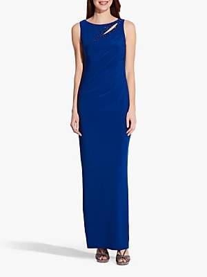Adrianna Papell Bead Embellishment Matte Jersey Maxi Dress