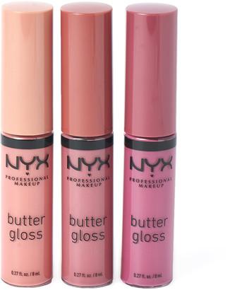 NYX Diamonds & Ice Please Butter Gloss Lip Trio Set 01