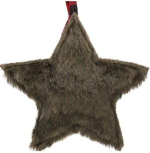 "Northlight 8"" Brown Faux Fur Star Christmas Ornament Decoration"