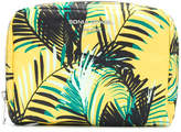Sonia Rykiel palm print makeup bag