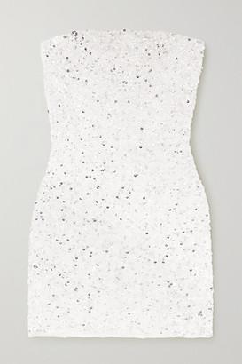 retrofete Heather Sequined Chiffon Mini Dress - White
