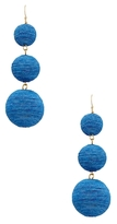 Kenneth Jay Lane Triple Graduated Thread Wrapped Ball Drop Earrings