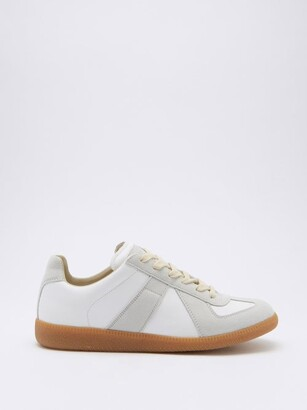 Maison Margiela Replica Suede And Leather Trainers - White Multi