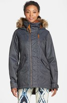 Burton Women's 'Hazel' Waterproof Faux Fur Trim Jacket