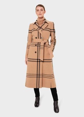Hobbs Faye Wool Blend Wrap Coat