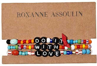 Roxanne Assoulin Do It With Love camp bracelets