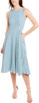 Marella Linen-Blend Midi Dress