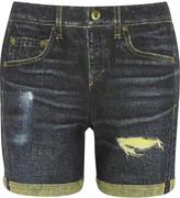 Rag & Bone The Boyfriend printed cotton-terry shorts