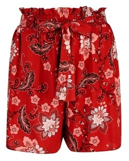 Dorothy Perkins Womens **Tall Rust Floral Shorts