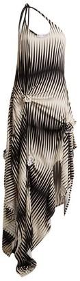 J.W.Anderson One-shoulder Asymmetric Printed Jersey Dress - Black White
