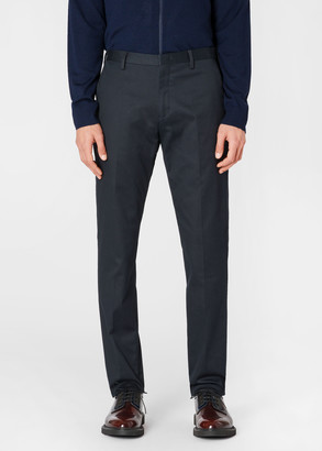 Men's Slim-Fit Dark Navy Stretch-Cotton Chinos