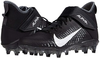 Nike Alpha Menace Pro 2 Mid (Black/White/Cool Grey/Anthracite 2) Men's Cleated Shoes