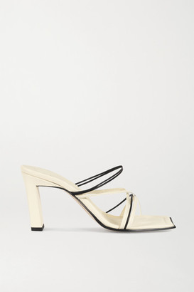 Wandler Joanna Two-tone Leather Sandals - Cream