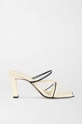 Wandler Joanna Two-tone Leather Sandals - Cream