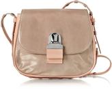 MM6 Maison Martin Margiela Pink Cracked Leather Shoulder Bag