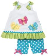 Rare Editions Baby-girls Butterfly Dress and Capri Set