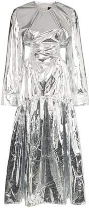 Markoo metallic cut-out maxi dress