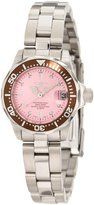 Invicta Women's 11443 Pro Diver Mini Pink Dial Stainless Steel Watch