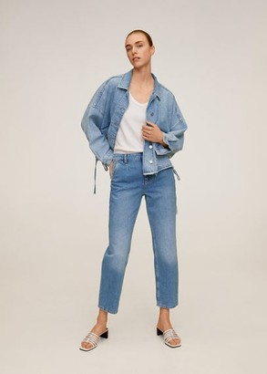 MANGO Cropped darts jeans