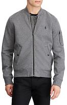 Polo Ralph Lauren Long Sleeve Bomber Jacket, Foster Grey Heather