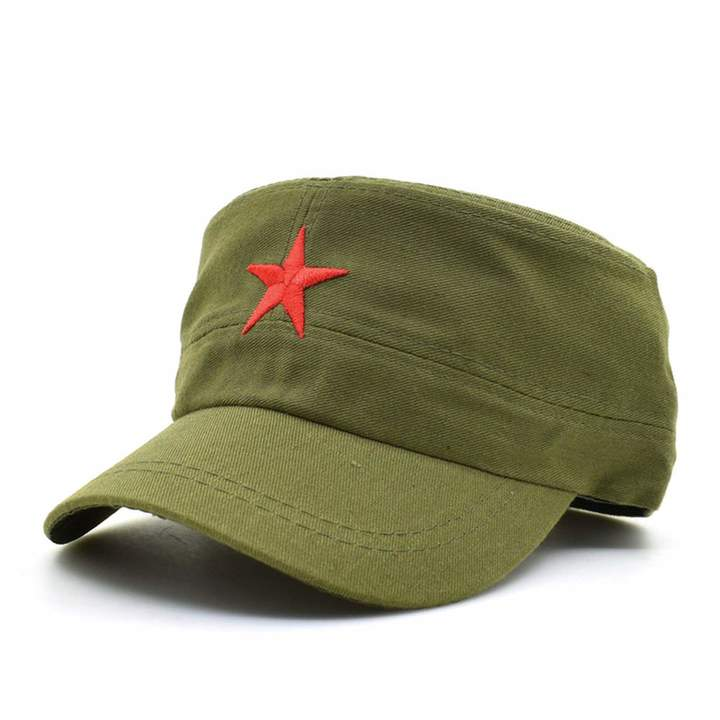 1f181d469f4 Feisette 2019 Communist Caps Hats Cap Men Red Star Army Cool Cap Party Men  International Brigades Flat Top Military Hat