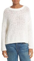 Vince Women's Textured Merino Wool Blend Boxy Sweater