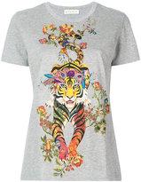Etro tiger print T-shirt - women - Cotton/Viscose - 40