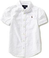 Ralph Lauren Big Girls 7-16 Oxford Button-Down Shirt