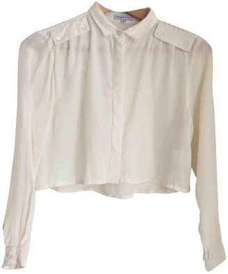 Surface to Air Ecru Silk Top for Women