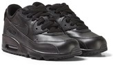 Nike Black Air Max 90 Leather Kids Trainers