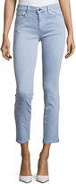 Joe's Jeans Straight-Leg Twill Ankle Pants, Violet Blue