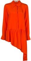 Tibi asymmetric ruffle shirt