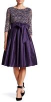 Eliza J Pleated Tie Waist Dress (Petite)