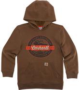 Carhartt Canyon Brown 'Carhartt' Fleece Pullover Hoodie - Boys