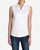 Eddie Bauer Women's Wrinkle-Free Sleeveless Shirt - Solid