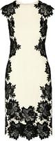 Lela Rose Guipure lace-trimmed stretch-crepe dress