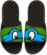 ISlide Teenage Mutant Ninja Turtles Leonardo Slide Sandal, Black