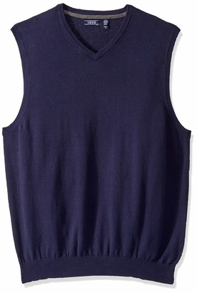 Izod Men's Big & Tall Big Premium Essentials Solid V-Neck 12 Gauge Sweater Vest