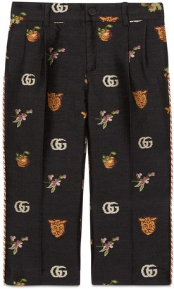 Gucci Children's symbols jacquard trousers