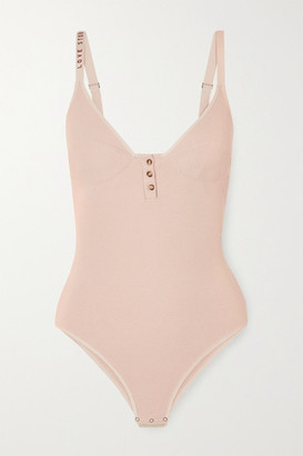 Love Stories - Sandy Ribbed Cotton-blend Jersey Bodysuit - Blush