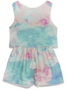 Rare Editions Little Girls Tie Dye Romper