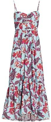 A.L.C. Emilia Printed Cotton Maxi Dress