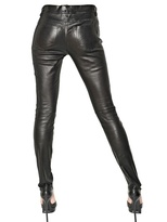 Saint Laurent Bonded Nappa Leather Trousers