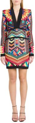 Balmain Stretch Jacquard Mini Dress