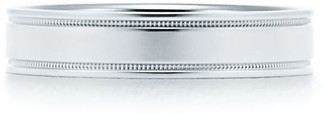 Tiffany & Co. Essential Band double milgrain ring in platinum, 4 mm wide